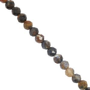 27cts Pietersite Faceted Rounds Approx Approx 3.9mm 30cm