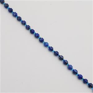 110cts Lapis Lazuli Faceted Satellite Beads Approx 7x8mm, 38cm Strand