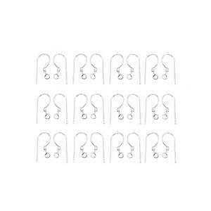 Silver Plated Base Metal Shepherd Ear Hooks, 15mmx6mm (100pcs)