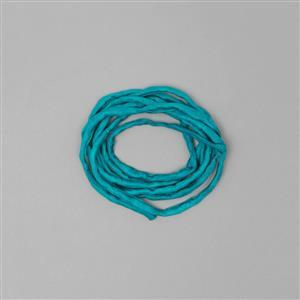 1m Teal Silk Cord Approx 2mm