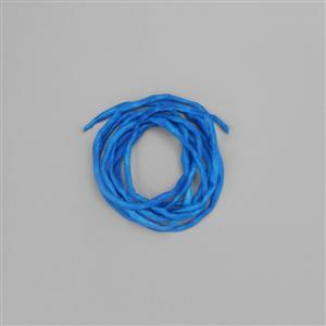 1m Caribbean Blue Silk Cord Approx 2mm