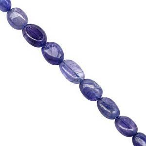 85cts Tanzanite Smooth Oval Approx 6.5x4.5 to 11.5x7.5mm, 32cm Strand