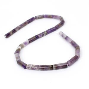 120cts Amethyst Tubes Approx 16x6mm,38cm strand