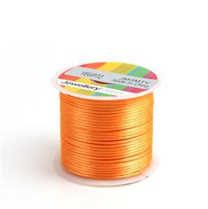 10m Orange Satin Cord, 1mm