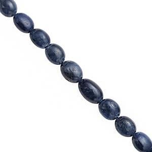 62cts Blue Sapphire Plain Oval Approx 4x6mm to 6x8mm, 20cm Strand