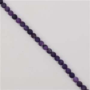 180cts Amethyst Matt Finish Frosted Rounds Approx 8mm, 38cm Strand