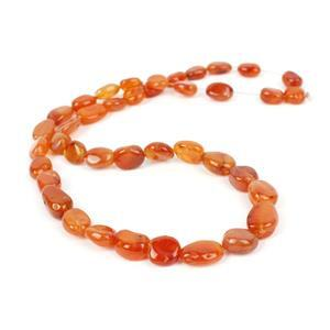 125cts Carnelian Graduated Tumble Nuggets Approx 8x7 to14x10mm, 38m Strand