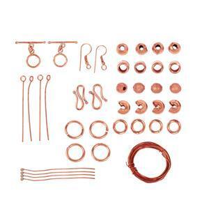Bumper Findings Pack - Bare Copper (1,631pcs)