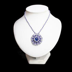 Blue Horizons; 380cts Royal Blue Terra Jasper, 38cts White Opal, 3 x Miyuki Seed Beads
