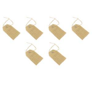 JUTE TAGS - BROWN 6PK