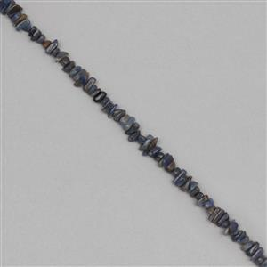 105cts Blue Sapphire Graduated Plain Medium Nuggets Approx 4x1 to 12x2mm, 31cm Strand.
