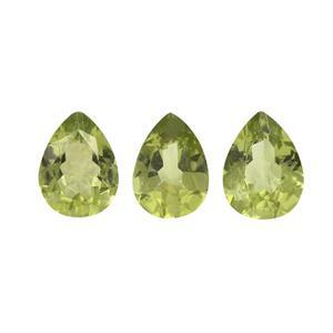 2.80cts Red Dragon Peridot Pear Brilliant 8x6mm (N) (Pack of 3)