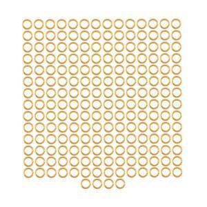 Champagne Gold Colour Plated Copper Open Jump Rings ID Approx 3mm. (Approx 200pcs)