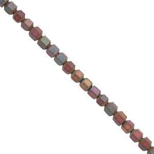 30cts Mystic Color Coated Hematite Matt Bicones Approx 2.75mm, 30cm Strand