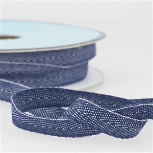 Denim Ribbon in Light Navy Blue 1m x 10mm