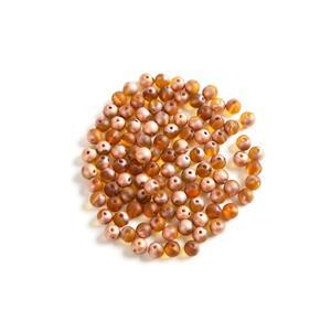 Czech RounDuo Beads, 5mm - Topaz Capri Gold Matte (100pcs)