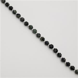 100cts Kambaba Jasper Faceted Satellite Beads Approx 7-8mm, 38cm Strand