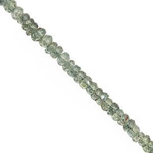20cts Teal Sapphire Faceted Rondelle Approx 2x1 to 3x2mm, 20cm Strands