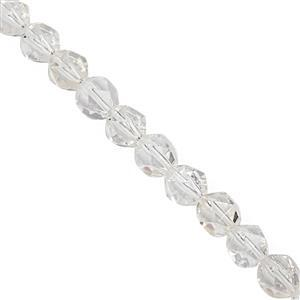 108cts White Quartz Faceted Star Cut Approx 7 to 7.5mm, 28cm Strand
