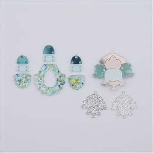 Ocean Earring and Pendant Set Inc 2 x pendants and 2 pairs of earrings