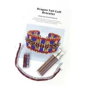 Dragon Tail Lilac;  Czechmates Tile Beads x2, Triangle Beads x2, Miyuki 11/0 & 8/0
