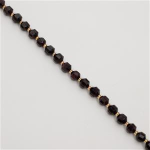 190cts Garnet Faceted Satellite Beads Approx 7x8 - 8x9mm, 38cm Strand