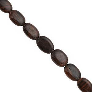 75cts Golden Sheen Obsidian Graduated Smooth Oval Approx 10x7 to 16x11mm, 18cm Strand