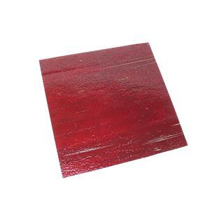 Fuseworks 90 COE Transparent Red Sheet Glass, 6x6