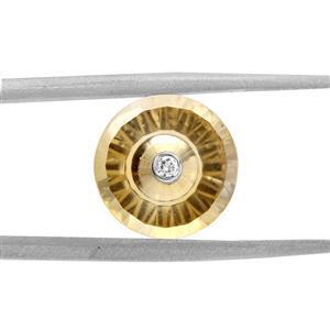 3.5cts TorusRing Cut Citrine 11x11mm Round  (H)