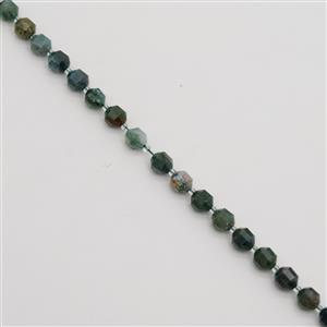 160cts Fancy Jasper Faceted Satellite Beads Approx 9x10mm, 38cm