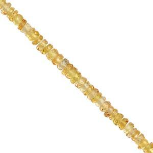 12cts Golden Sapphire Graduated Faceted Rondelle Approx 1.5x1 to 3x1mm, 15cm Strand
