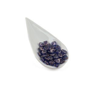 Preciosa Ornela Crystal GT Cerulean Blue Slab Beads, 8mm (50pcs)