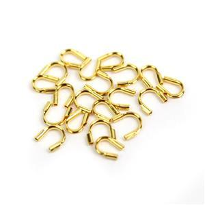 Gold Plated 925 Sterling Silver Wire End Tip, Hole Approx 0.50mm (20pcs)