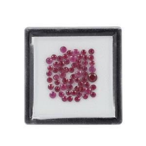 5cts Burmese Mogok Ruby Mixed Shape Loose Gemstones