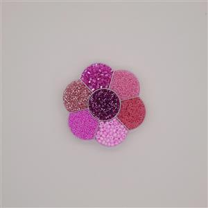 Preciosa Ornela Rocialles Flower Gift Box - Pink Beads Mix