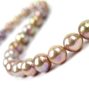 CLOSE OUT DEAL! Mixed Natural Colour Freshwater Cultured Nucleated Pearls Approx 10-11.5mm, 38cm Strand