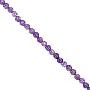15cts Amethyst Micro Faceted Round Approx 2 to 2.50mm, 40cm Strand