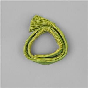 1/2 Yard Lime Wedge Shibori Silk Ribbon