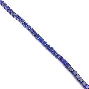 60cts Lapis Lazuli Cubes Approx 5mm, 19cm Strand