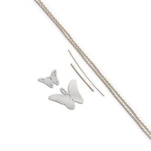 935 Argentium Finest Silver Butterfly Pendant Kit