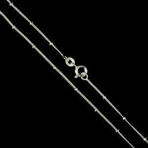 925 Sterling Silver Finished Satellite Link Chain Approx 1mm, Length Approx 16