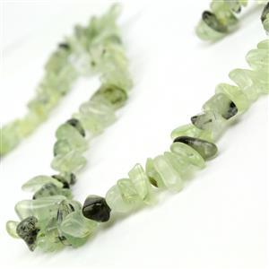 280cts Prehnite Long Chips Approx 9x3 - 16x7mm, 38cm Strand
