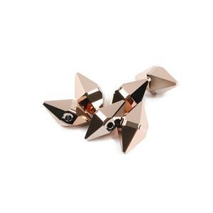 Swarovski Crystal Rose Gold Spike Beads 12x6mm, 6pk