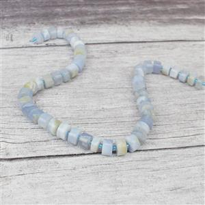 260cts Blue Chalcedony Wheels Approx 4x9mm-6x11mm, Approx 38cm/strand