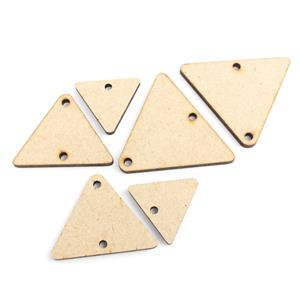 MDF Graduated Triangle Blanks (6pcs)