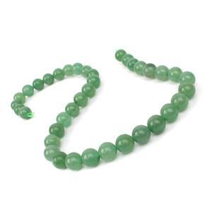 260cts Green Aventurine Plain Rounds Approx 10mm, 38cm