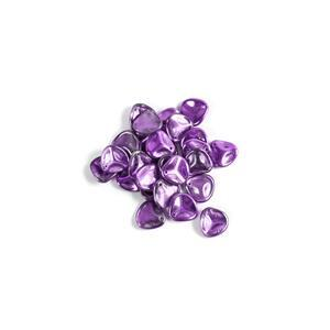 Czech Rose Petal Beads Crystal Violet Metallic Ice, Approx 8x7mm (50pcs)