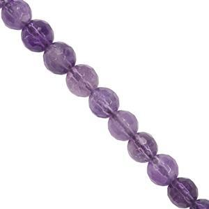 95cts Zambian Amethyst Faceted Round Approx 6mm 15'' Strand