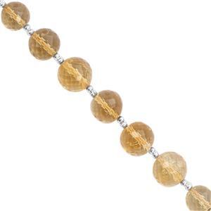 45cts Rio Grande Citrine Straight Drill Graduated Faceted Round Approx 5 to 8.50mm, 19cm Strand with Spacers