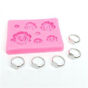 Rose Ring Kit: Silicone Mould & Ring Blanks